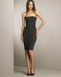 D&G Dolce & Gabbana Strapless Ruched Dress- Dresses- Bergdorf Goodman