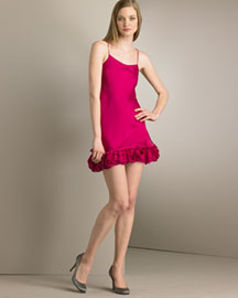 Alice + Olivia Ruffled-Hem Dance Dress -  Party -  Bergdorf Goodman from bergdorfgoodman.com