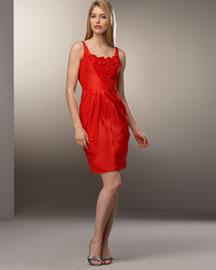 Carmen Marc Valvo Rosette Dress- Designer- Bergdorf Goodman
