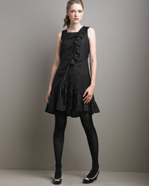 MARC by Marc Jacobs- it was love at first sight. The asymmetrical zipper is FAB! :  black dress marc ruffles marc jacobs