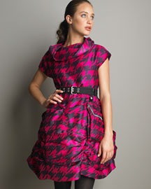 MARC by Marc Jacobs Printed Silk Dress -  Dresses -  Bergdorf Goodman :  houndstooth print silk lingerie fall 2008