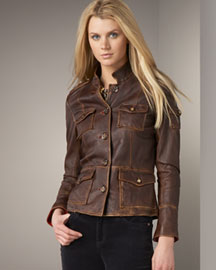 Tory Burch Leather Jacket -  The Leather Jacket -  Bergdorf Goodman :  arrivals different vintage goodman