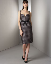 Milly Polka-Dot Sheath Dress -  Dresses -  Bergdorf Goodman :  polka dot dress sheath bergdorf goodman dress