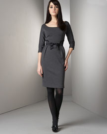Milly Bow Dress -  Dresses -  Bergdorf Goodman :  business dress bergdorf goodman dress gray dress