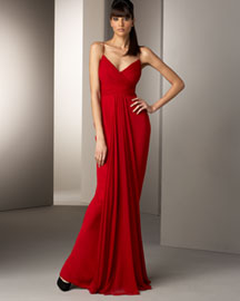 Notte by Marchesa Draped Chiffon Gown -  Designer Collections  -  Bergdorf Goodman from bergdorfgoodman.com