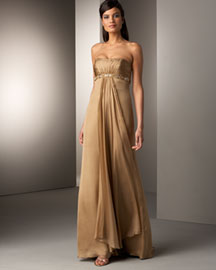 Notte by Marchesa Draped Gown -  Evening -  Bergdorf Goodman :  chic evening retro sexy
