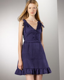 MARC by Marc Jacobs Cosmos Dress -  Dresses -  Bergdorf Goodman :  fitted at waist v-neck a-line cotton
