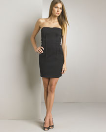 D&G Dolce & Gabbana Strapless Pin Tuck Dress -  Dresses -  Bergdorf Goodman :  black dress black strapless dress lbd strapless dress