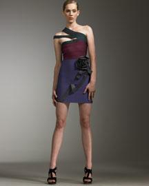 Herve Leger Rosette Bandage Dress