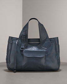 MARC by Marc Jacobs Utility Carryall Satchel -  Totes -  Bergdorf Goodman :  bag oversized bag indigo shoulder bag