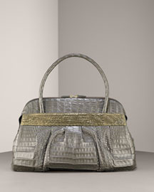 Nancy Gonzalez Crocodile & Python Satchel -  Handbags -  Bergdorf Goodman :  bag nancy gonzalez crocodile and python satchel nancy gonzalez crocodile