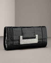 Leiber Croc Clutch -  Handbags  -  Bergdorf Goodman  :  clutches