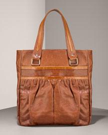 Lauren Merkin Emma Glazed Goatskin Tote :  handbag lauren merkin bergdorf goodman tonal