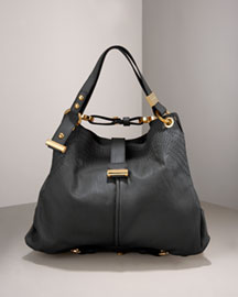 Jimmy Choo Alex Double-Strap Leather Hobo -  Handbags -  Bergdorf Goodman