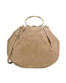 Miu Miu Large Vitello Vintage Tote -  The New Handheld -  Bergdorf Goodman :  vitello clutch designer clothing gold
