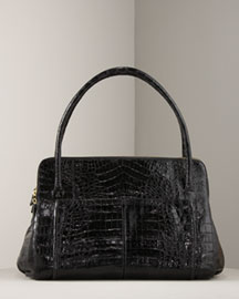 Nancy Gonzalez Large Croc Zip Satchel -  Nancy Gonzalez -  Bergdorf Goodman :  crocodile satchel nancy gonzalez croc