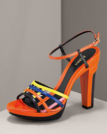 Fendi Kaleidoscope Sandal -  Colorblock Accessories -  Bergdorf Goodman