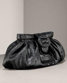 Carlos Falchi Matte Python Clutch- Handbags- Bergdorf Goodman