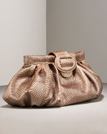 Carlos Falchi Anaconda Oversized Clutch -  Shoes & Handbags -  Bergdorf Goodman  :  clutches