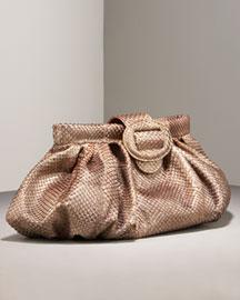 Carlos Falchi Anaconda Pouch- Handbags- Bergdorf Goodman :  handbag taupe bag carlos falchi
