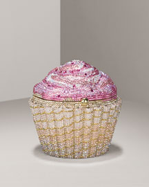 Leiber Limited-Edition Strawberry Cupcake Clutch -  Evening Bags -  Bergdorf Goodman  :  clutches leiber