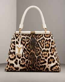 Yves Saint Laurent Majorelle Leopard-Print Bag -  Handbags -  Bergdorf Goodman :  majorelle bag top handle ysl