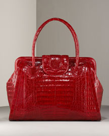 Nancy Gonzalez Croc Satchel, Large -  Nancy Gonzalez -  Bergdorf Goodman :  crocodile satchel nancy gonzalez croc
