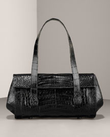 Nancy Gonzalez Shiny Croc East-West Satchel, Small -  Nancy Gonzalez -  Bergdorf Goodman :  crocodile satchel nancy gonzalez croc