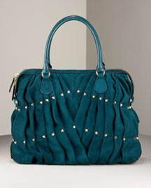 Valentino Maison Studded Tote -  Top Handle -  Bergdorf Goodman from bergdorfgoodman.com