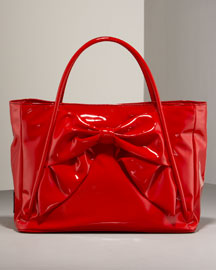 Valentino Bow Tote -  Handbags -  Bergdorf Goodman :  fall preview womens apparel work satchel