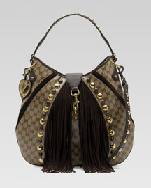 Gucci Babouska Shoulder Bag -  Bergdorf Goodman :  studded gucci fringe shoulder
