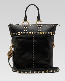 Gucci Babouska Messenger -  Bergdorf Goodman :  messenger studded black leather