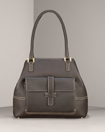 Loro Piana Fjord Medium Globe Bag, Dark Brown  -  Shoes & Handbags -  Bergdorf Goodman  :  bags