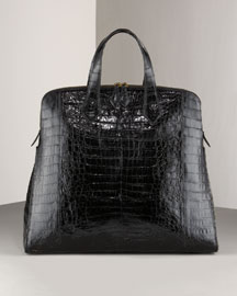 Nancy Gonzalez North-South Croc Satchel -  Shoes & Handbags -  Bergdorf Goodman  :  bags nancy gonzalez