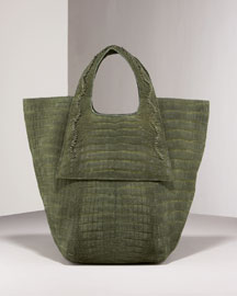 Nancy Gonzalez Sueded Croc Tote -  Shoes & Handbags -  Bergdorf Goodman  :  bags nancy gonzalez