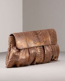 Carlos Falchi Puff Python Clutch -  Shoes & Handbags -  Bergdorf Goodman  :  clutches