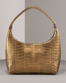 Carlos Falchi Metallic Hobo, Small -  Handbags -  Bergdorf Goodman