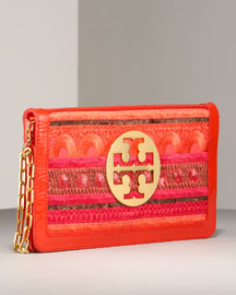Tory Burch Embroidered Reva Clutch -  Handbags -  Bergdorf Goodman  :  clutches tory burch