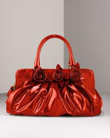 Valentino Fleur Satchel- Satchels & Top Handles- Bergdorf Goodman