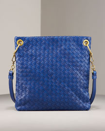Bottega Veneta Woven Messenger Bag -  Shoes & Handbags  -  Bergdorf Goodman