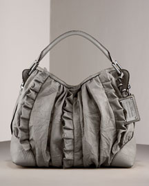 Dolce & Gabbana Ruffled Leather Hobo -  Shoes & Handbags  -  Bergdorf Goodman  :  dolce and gabbana bags
