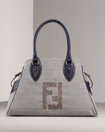 Fendi Denim Bag de Jour -  Handbags -  Bergdorf Goodman :  fendi denim bag de jour handbags totes leather goods