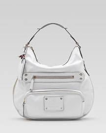 Gucci Voyager Hobo, Medium -  Black & White -  Bergdorf Goodman :  fashion accessory women bergdorf goodman