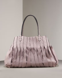 Valentino Vertical Pleated Tote