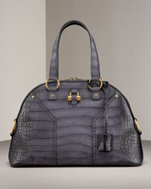 Yves Saint Laurent Croc-Embossed Degrade Muse, Large