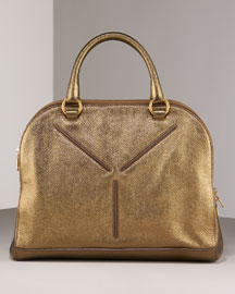 Yves Saint Laurent Metallic Y Tote -  Shoes & Handbags  -  Bergdorf Goodman  :  bags yves saint laurent