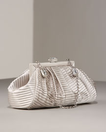 Judith Leiber Gertrude Zaria Satin handbag -  Evening Bags -  Bergdorf Goodman :  handbag bag evening satin