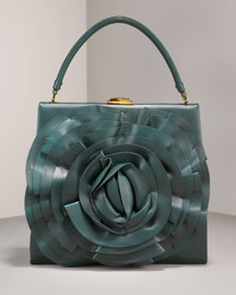 Framed Petal Shoulder Bag - Valentino - Bergdorf Goodman :  handbag bag fall emerald
