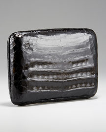 Nancy Gonzalez - Shiny Croc Box Clutch - Bergdorf Goodman