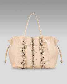 Valentino - Glam Tote  :  drawstring top handle glam nude
